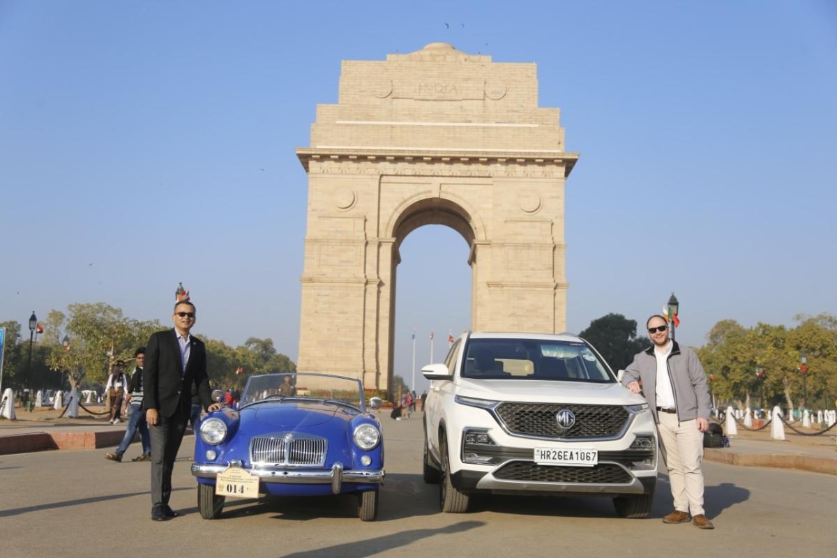MG Motor India at 21 Gun salute rally