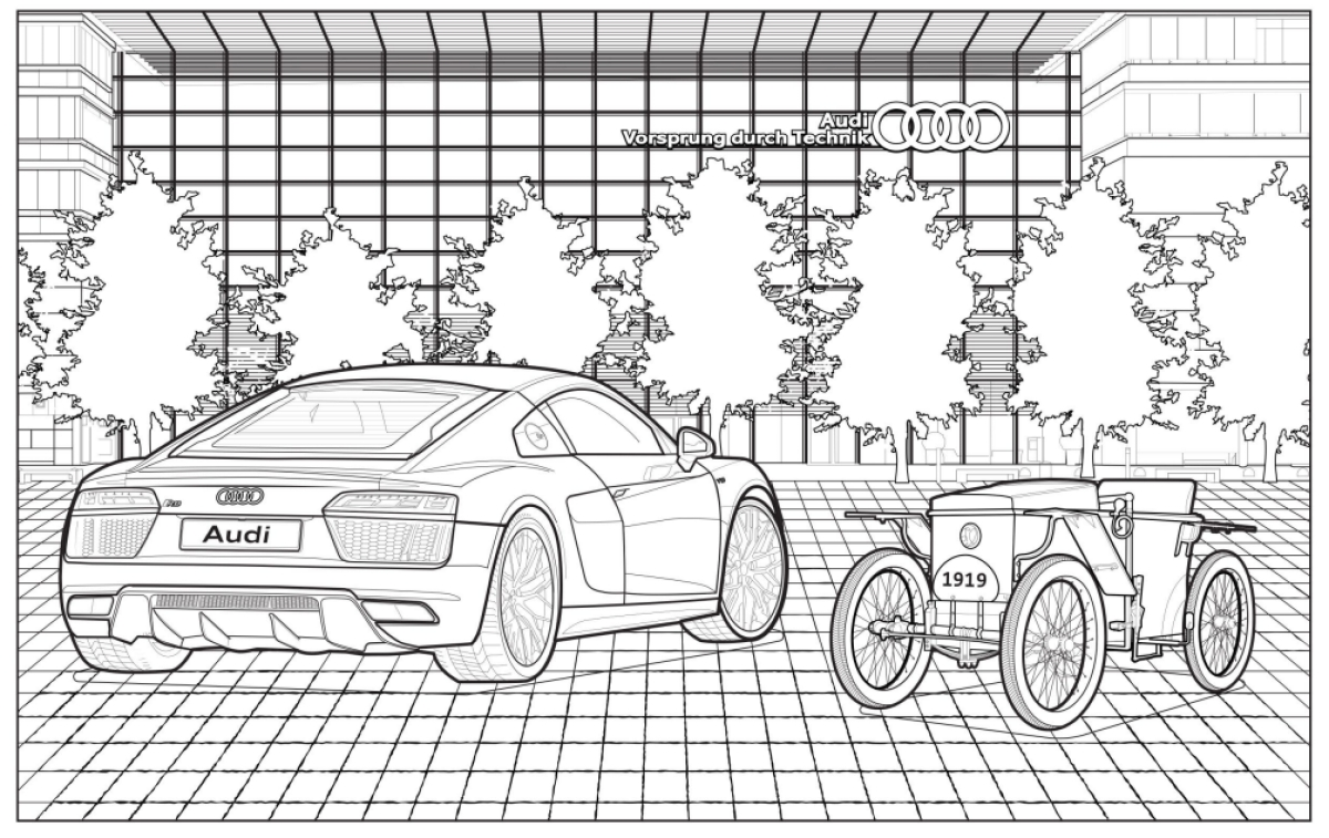 Audi releases a  coloring book to keep you busy in coronavirus quarantine