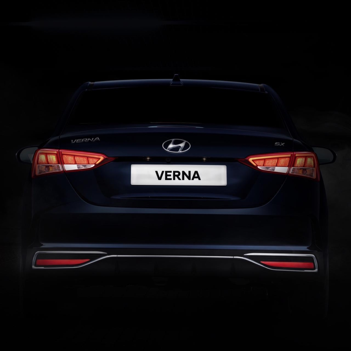 The rear of the Hyundai Verna remains largely unchanged
