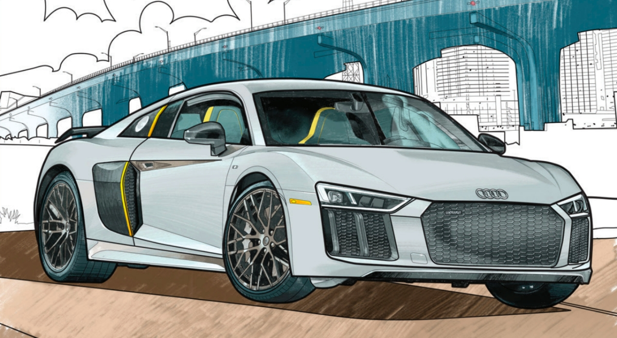 Audi's coloring book is free to download.