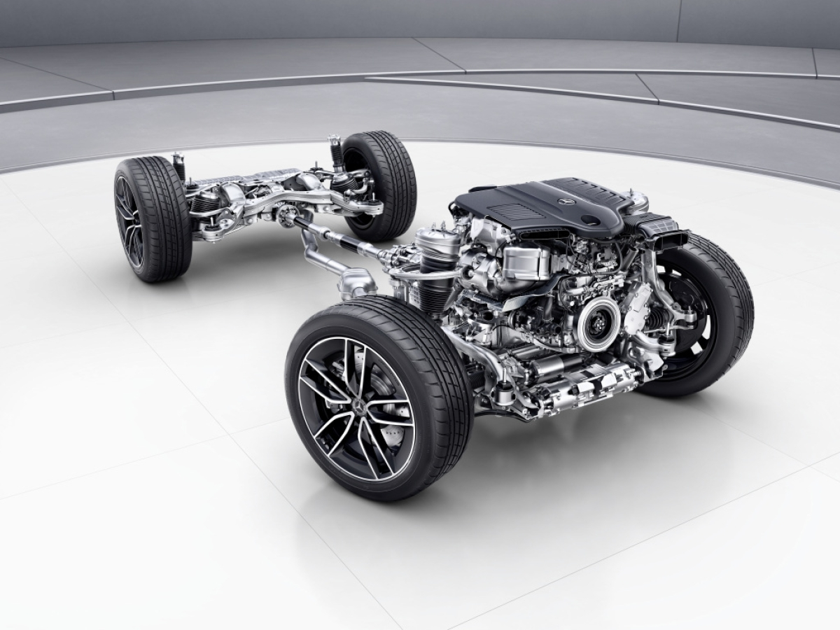 This is how the chassis of the GLE 400d looks like. Complex and classy.