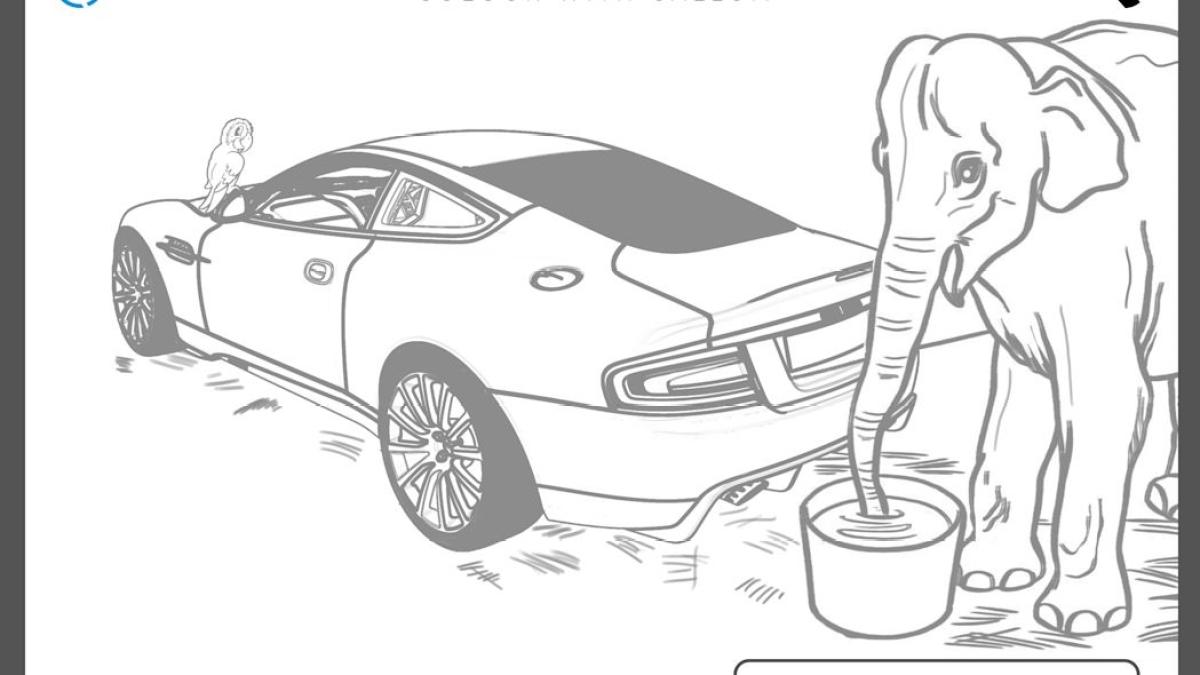 Ian Callum Designs a coloring book the feature an Aston Martin
