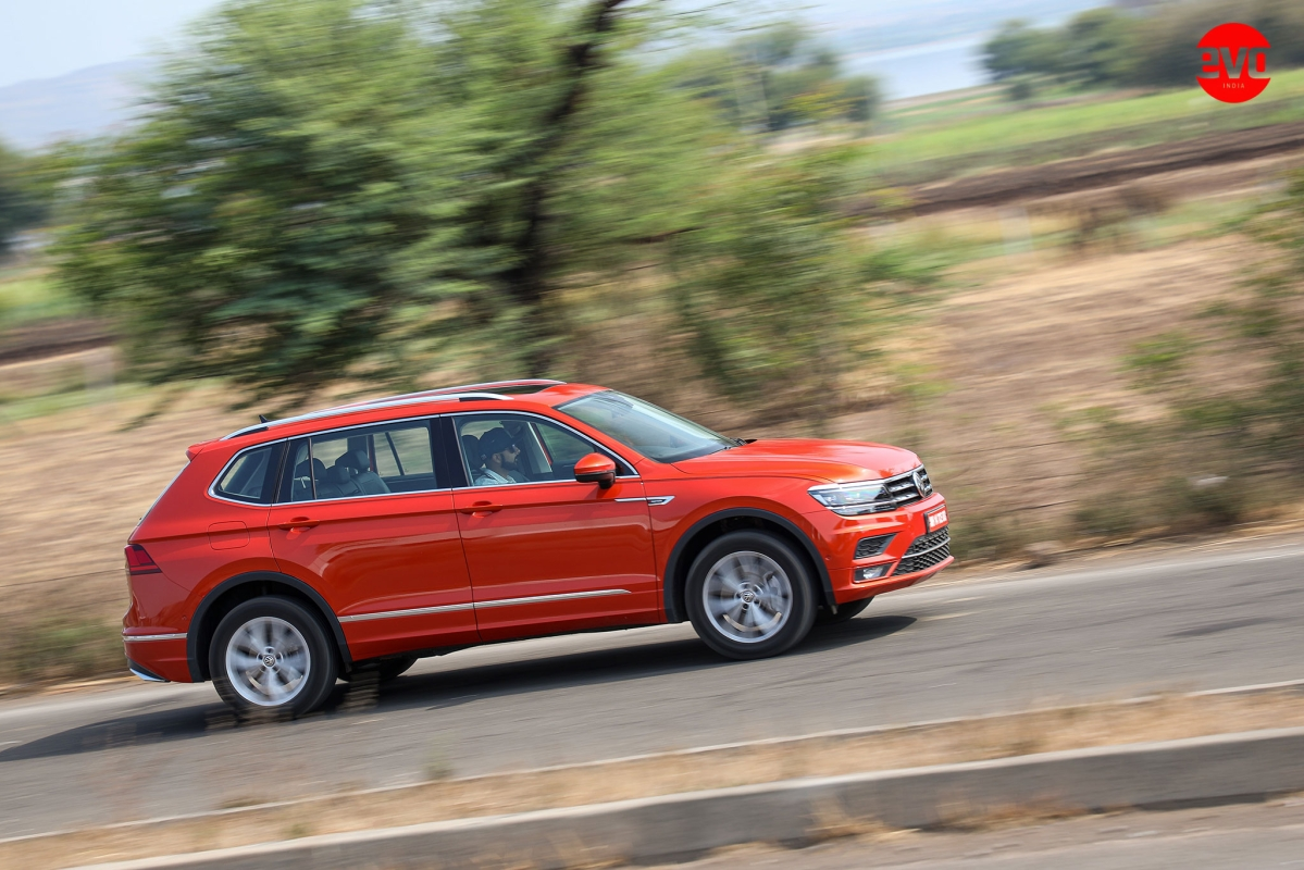 The AllSpace is visibly longer — by 215mm, actually — and that is because the wheelbase is 110mm longer over the standard Tiguan