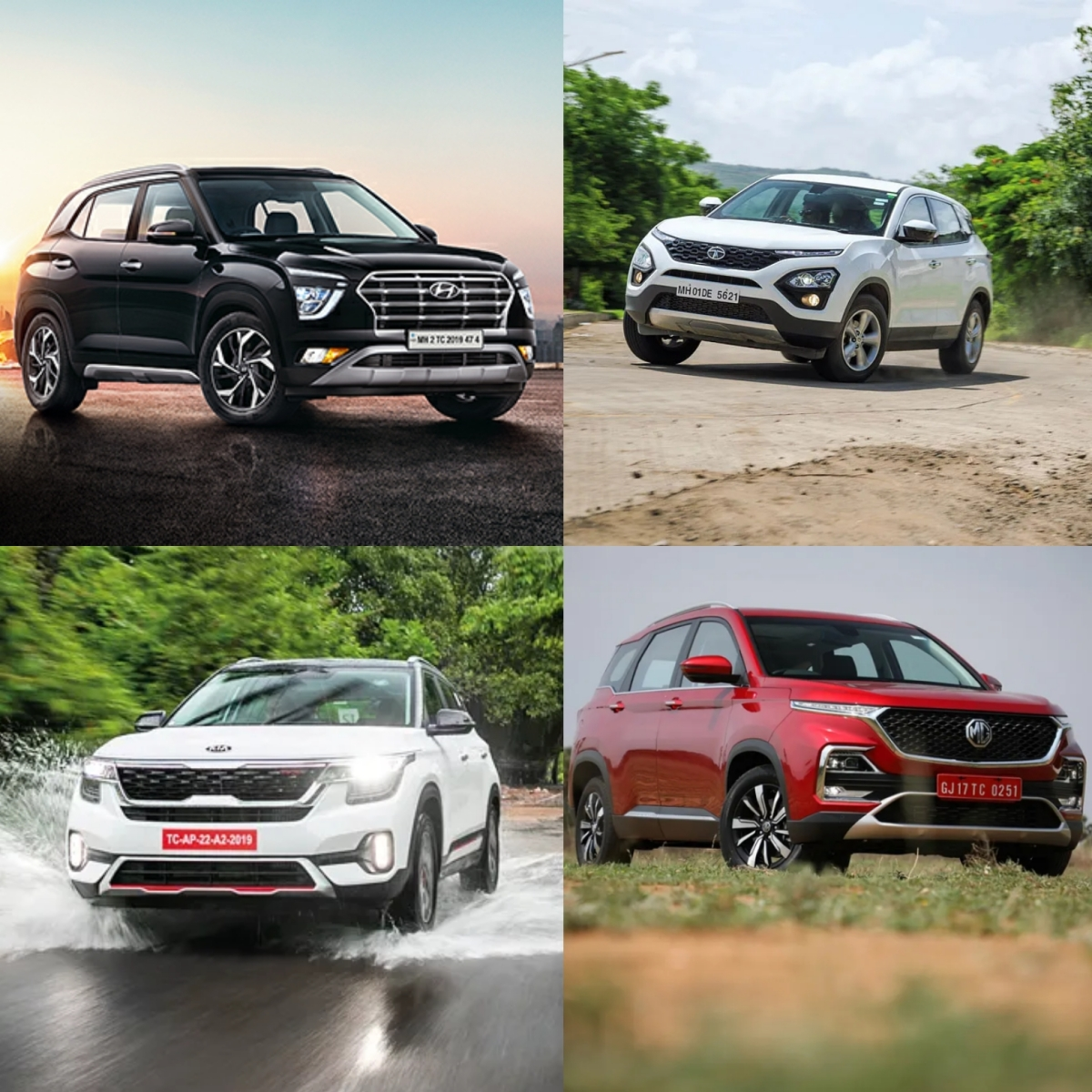 New Hyundai Creta vs Kia Seltos vs Tata Harrier: Mid-size SUV comparo