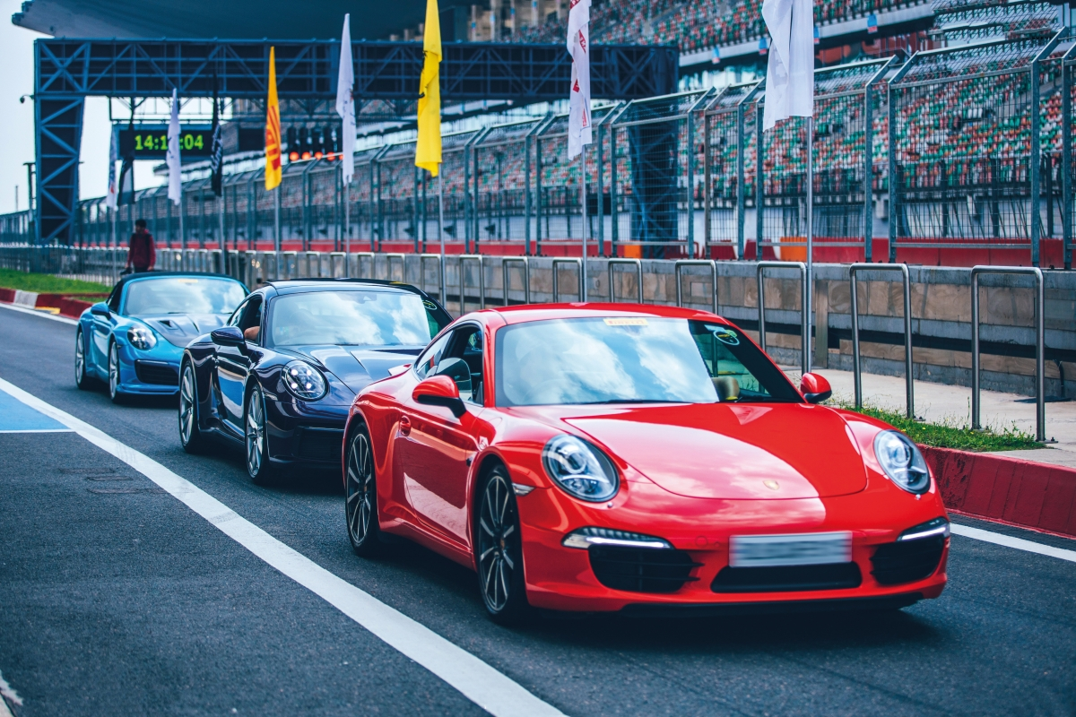 Any track day equals plenty of Porsches.