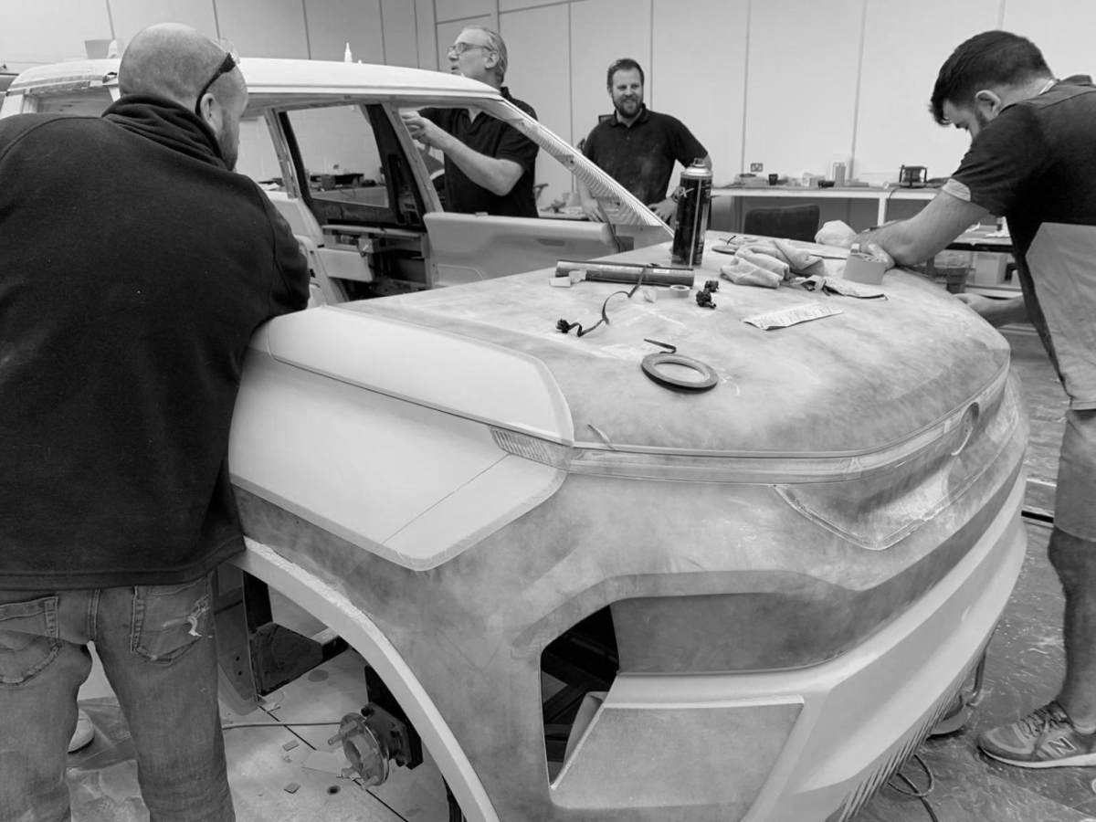 Despite all the latest 3-D software, most car manufacturers still follow this old school process of building physical clay models as it allows them to fine tune their designs.