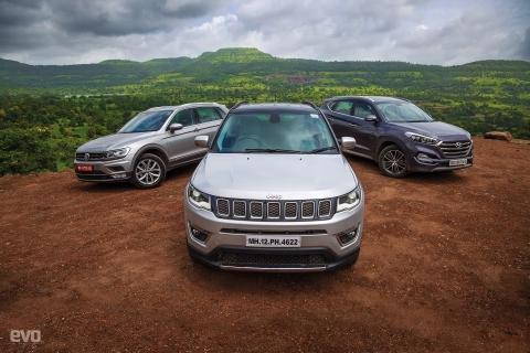 Comparo: Jeep Compass vs Volkswagen Tiguan vs Hyundai Tucson