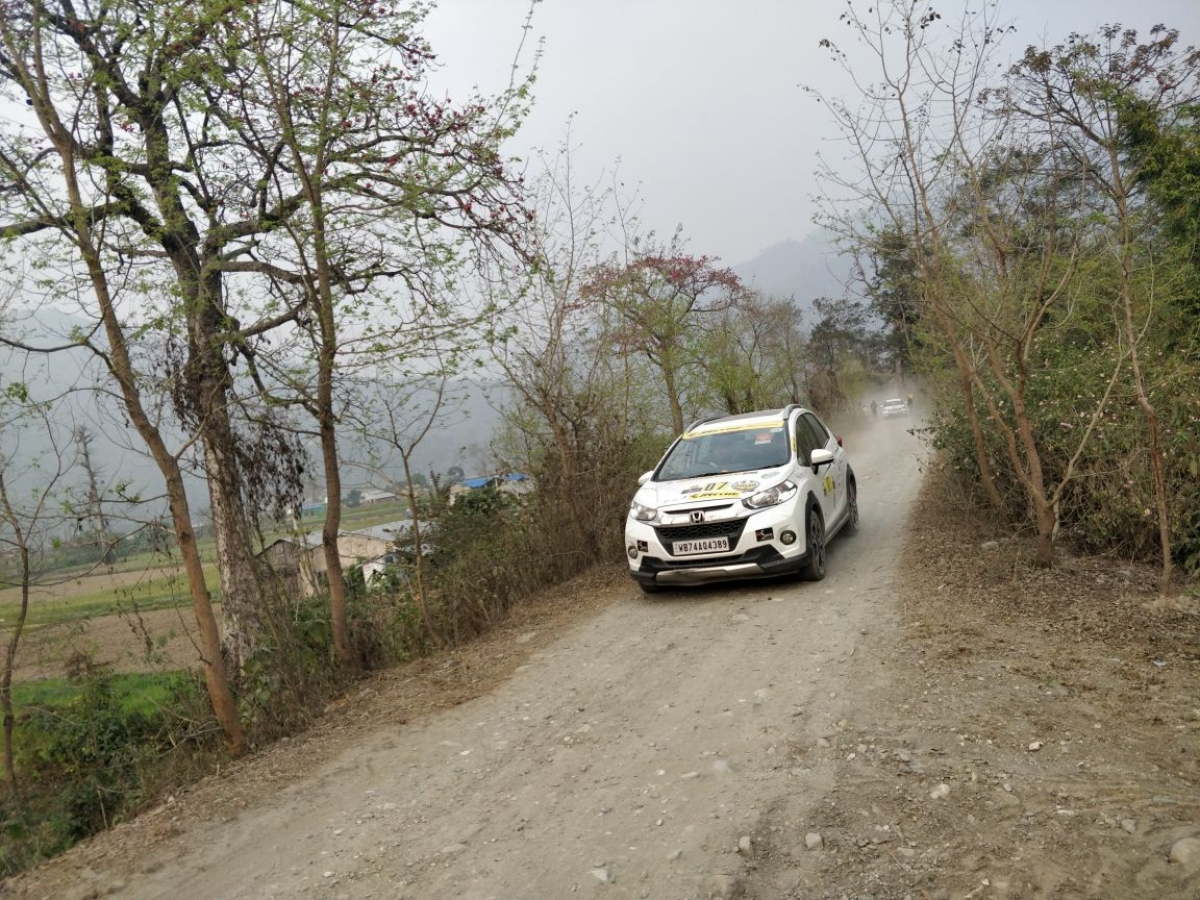 Rugged terrain and arrow straight paths surrounding the Chitwan forest area meant participants could attack the terrain with more speed in the straights