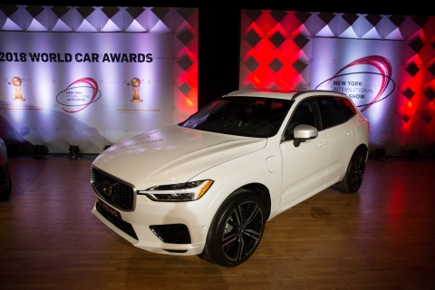 Manhattan, NY - March 28, 2018: Volvo XC60 at the 2018 World Car Awards ceremony at the Javits Center in Manhattan, NY March 28, 2018.  CREDIT: Kevin Hagen for The World Car Awards