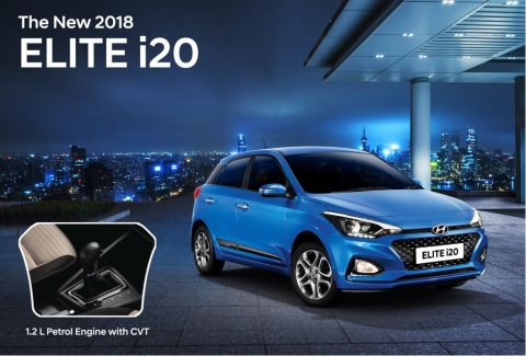 Hyundai Elite i20 1 2-litre petrol engine gets a CVT