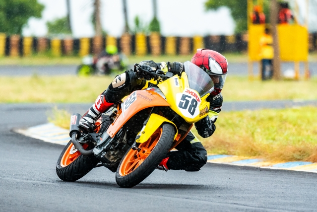 Anthony Peter bags third place in the Super Stock 301cc to 400cc class at the Round 1 of INMRC 2018