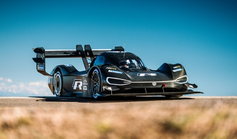 Romain Dumas completes initial test of the Volkswagen I.D. R Pikes Peak