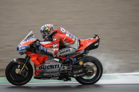 MotoGP: Dovizioso emerges winner in a rain soaked Valencia GP
