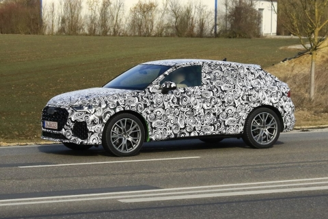 Audi RS Q3 Sportback spied internationally