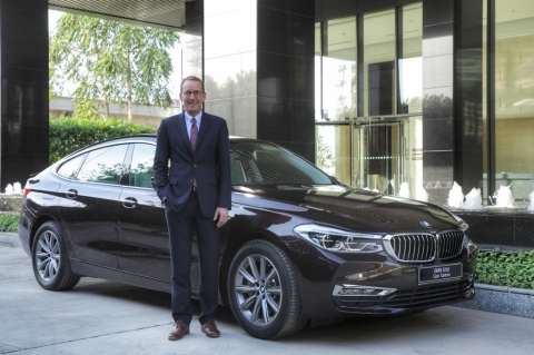 Photo Caption – Dr. Hans-Christian Baertels, President (act.), BMW Group India with the BMW 620d Gran Turismo