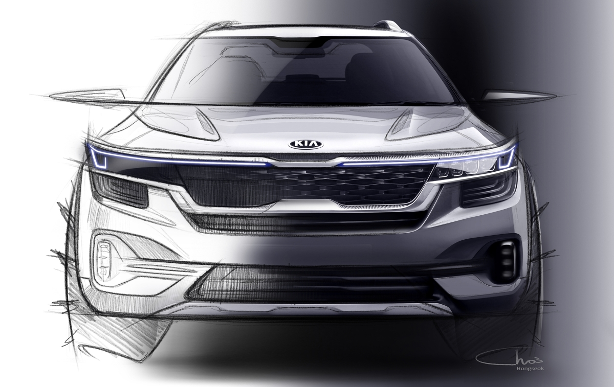 First look at Kia's first product for India, sketches revealed
