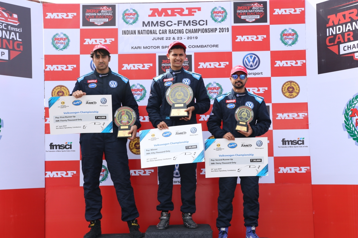 Jeet Jhabakh takes yet another win at the Volkswagen Ameo Class race weekend