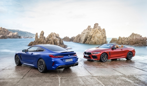 BMW unveils M8 coupe, convertible along with Competition models