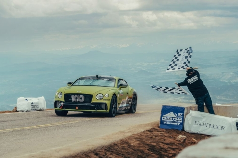 Bentley breaks production car Pikes Peak record with the Continental GT