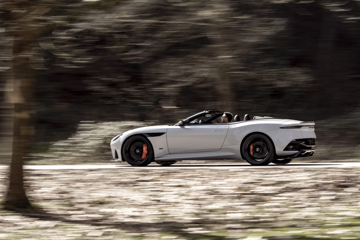 Aston Martin DBS Superleggera Volante review – lost roof adds enjoyment