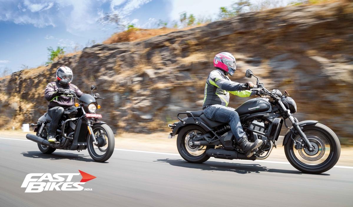 Kawasaki Vulcan S vs Harley Davidson Street 750
