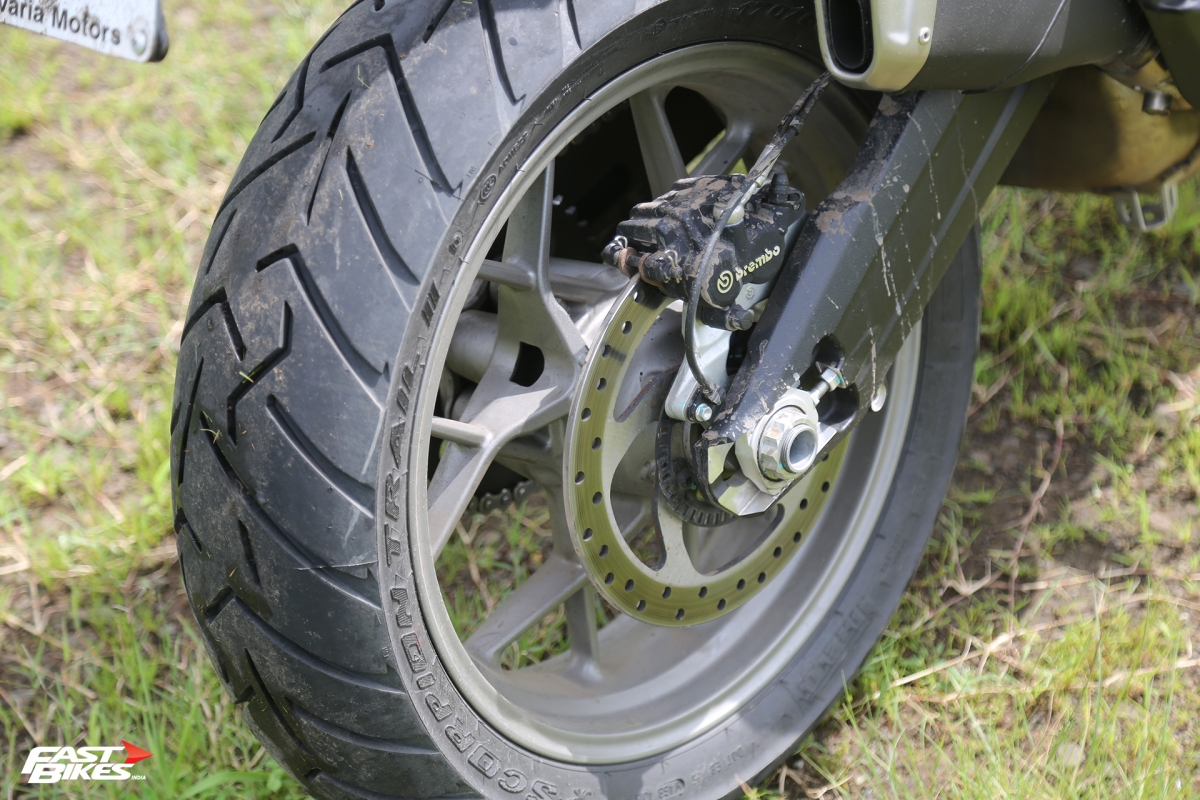 Pirelli Scorpion Trail IIs are grippy on road, but can also head out off it