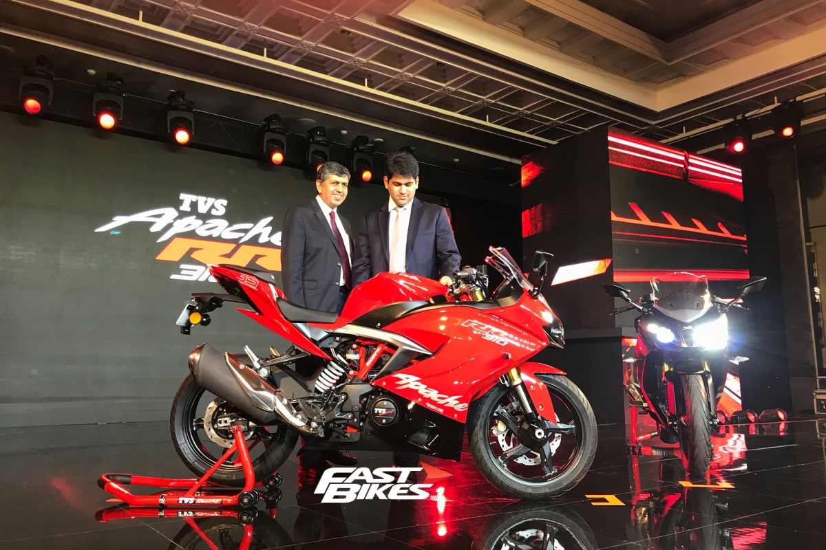 TVS Apache RR 310 launched at Rs 2.05 lakh
