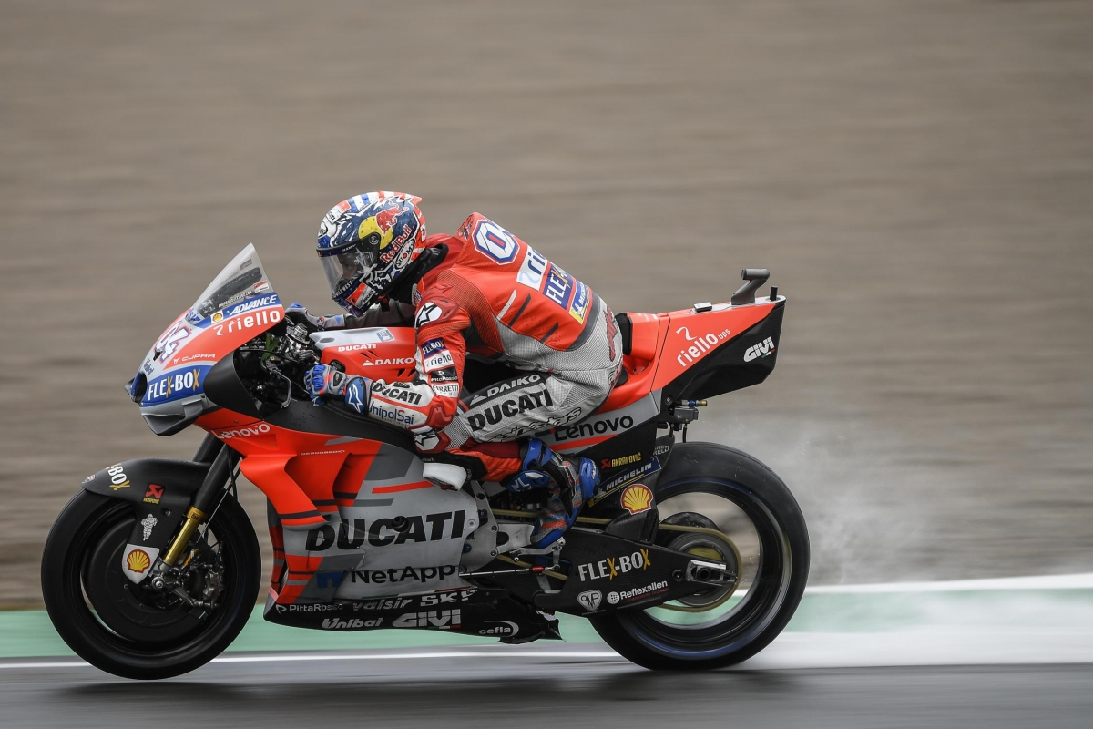 MotoGP: Dovizioso emerges winner in a rain soaked Valencia GP