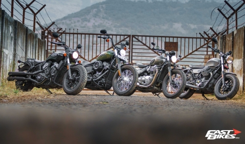 Bobbers galore: A four motorcycle shootout