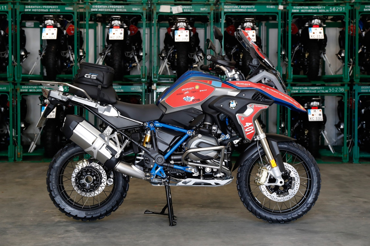 BMW R  1200 GS Rallye motorcycles on their way to Ulaanbaatar for GS Trophy 2018
