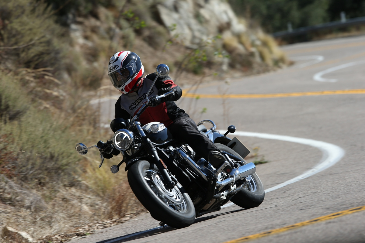 The chassis is capable of carrying way more lean and way more speed through corners, but the ergonomics of the motorcycle limit this