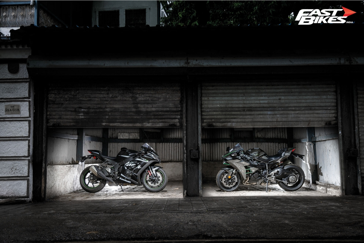 Kawasaki ZX 10 RR and H2