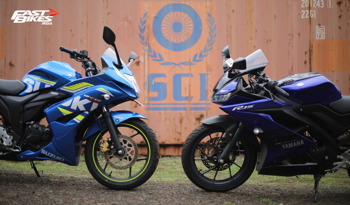 Fully faired shootout: Yamaha YZF R15 V3.0 vs Suzuki Gixxer SF Fi ABS