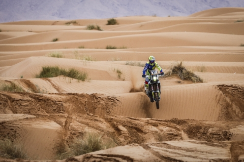 Sherco TVS Rally Factory Team begins Merzouga Rally on a high