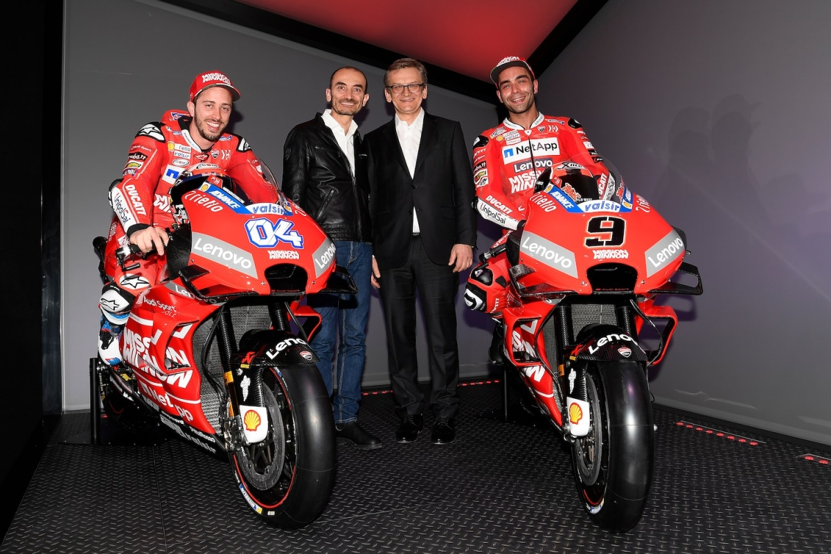 Ducati reveals its Desmosedici GP19 race bike