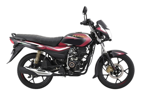 Bajaj Platina H-Gear Black with Burgundy decals