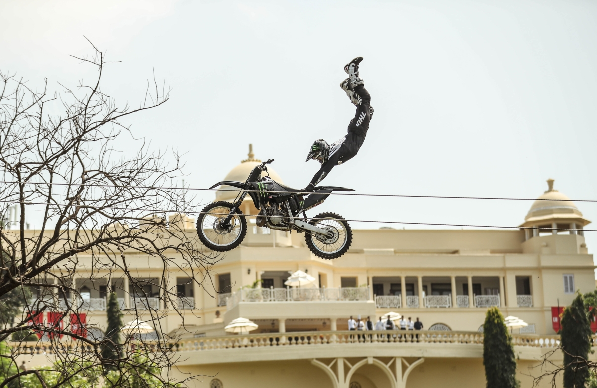 X-Games gold medallist Jackson Strong takes flight in Udaipur