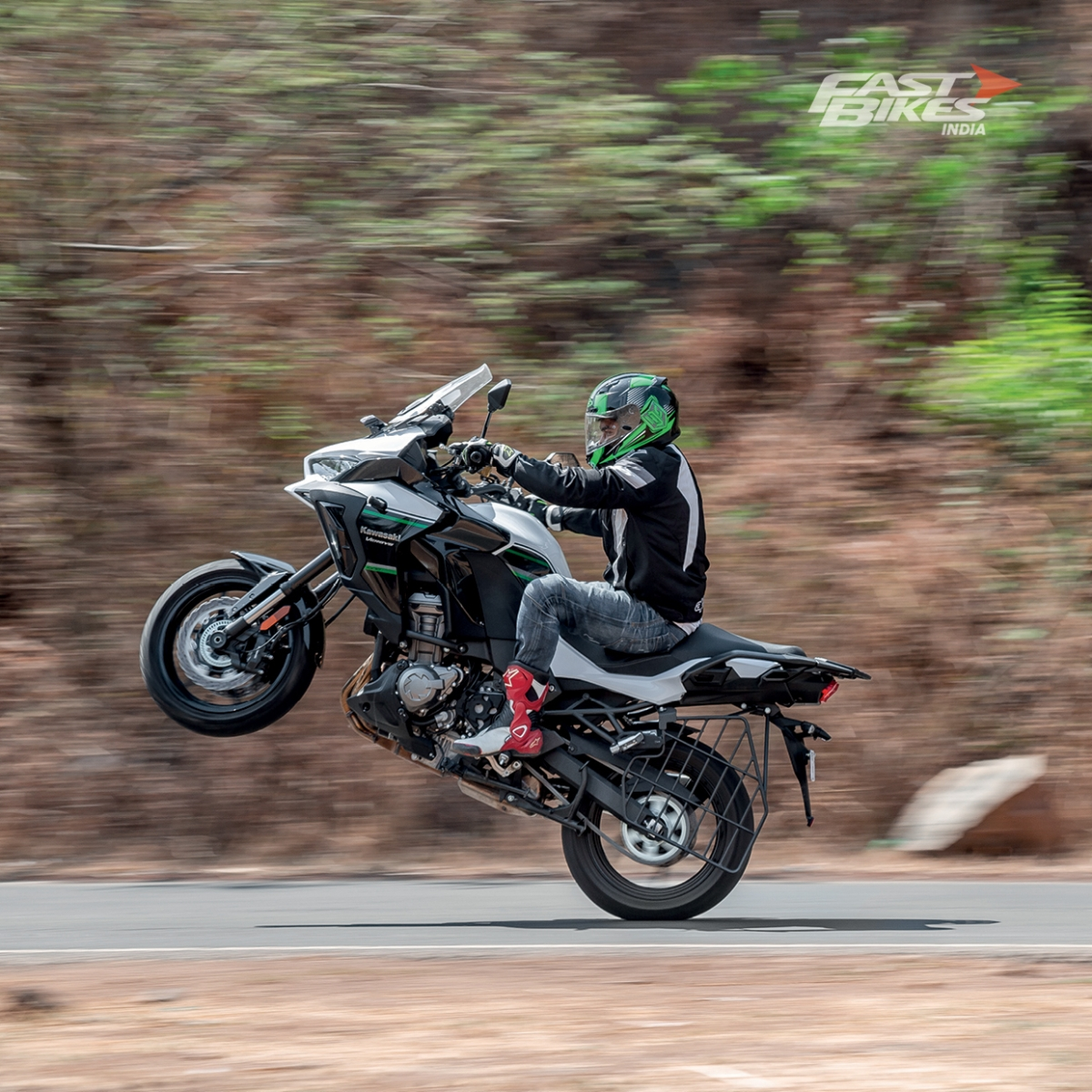 And you thought ADVs can't wheelie?