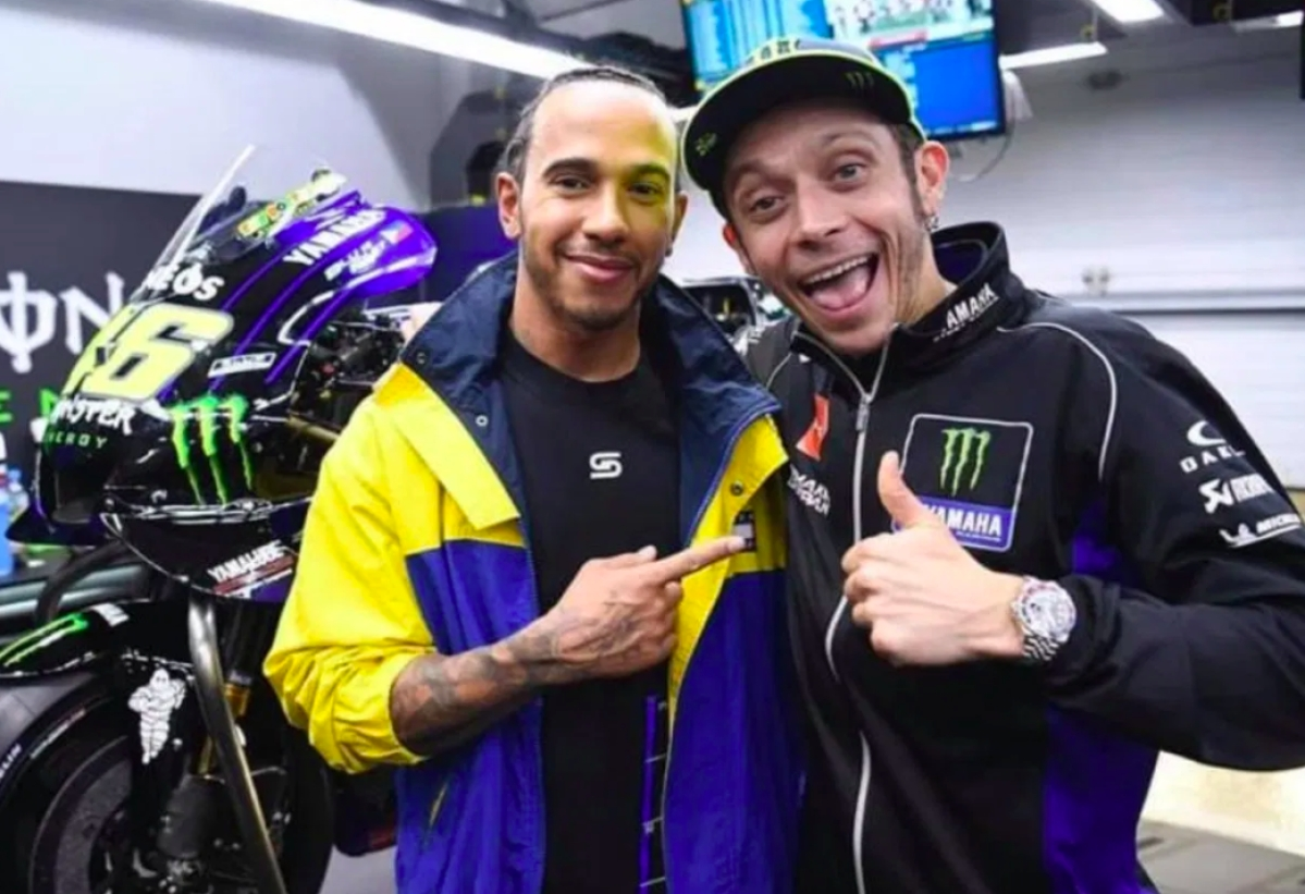 Lewis Hamilton and Valentino Rossi ready to play switcheroo