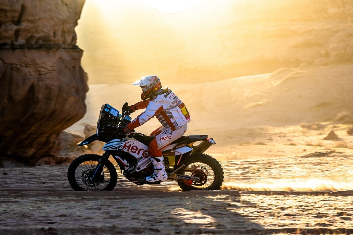 Hero MotoSports' Paulo Goncalves delivers a second top 10 finish in stage 5  at the Dakar