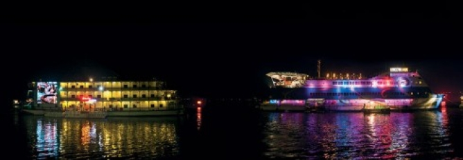 The riot of light and colour of Goa's floating casinos is sufficient bait for first-timers.