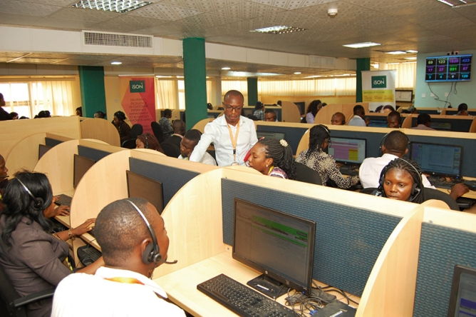 An ISON BPO in Africa. Getting manpower trained for BPOs there is easier compared to training infotech employees.