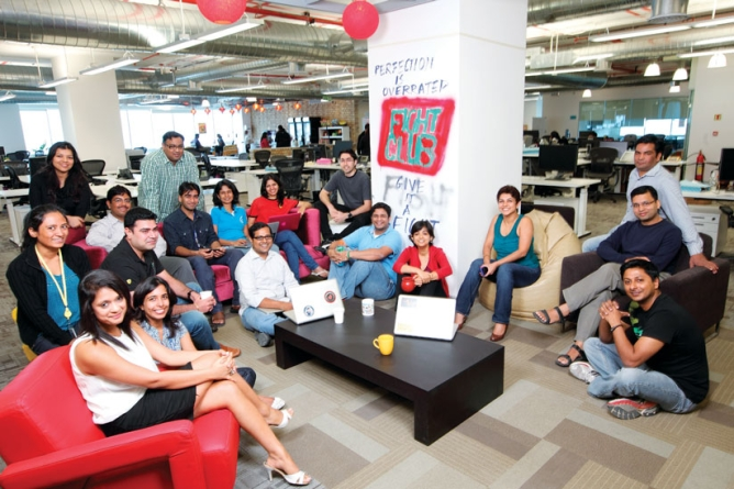 THE OFFICE NETWORK:Part of Kirthiga Reddy's team in the Hyderabad office.