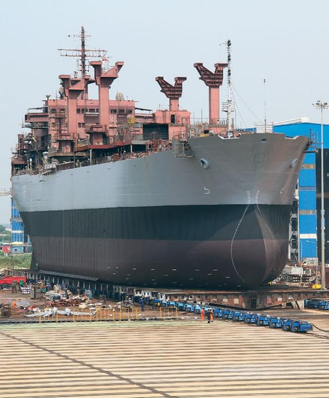 Shipbuilding yard at Kattupalli, Chennai