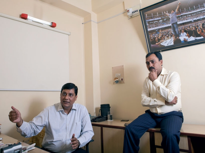 Goswami and pandey in their new Alipore office.