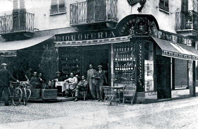 SWEET MEMORY: Pietro Ferrero's shop in Alba, Circa 1946. It was here that he made the hazelnut-cocoa paste that would become Nutella.