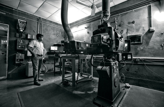 . DIGITISATION expanded reach and ensured better returns. (Here, the new digital equipment in the old projector room at Kolkata's Navina Cinema.)