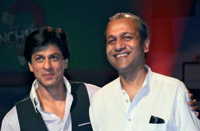 Basu with Shah Rukh Khan.
