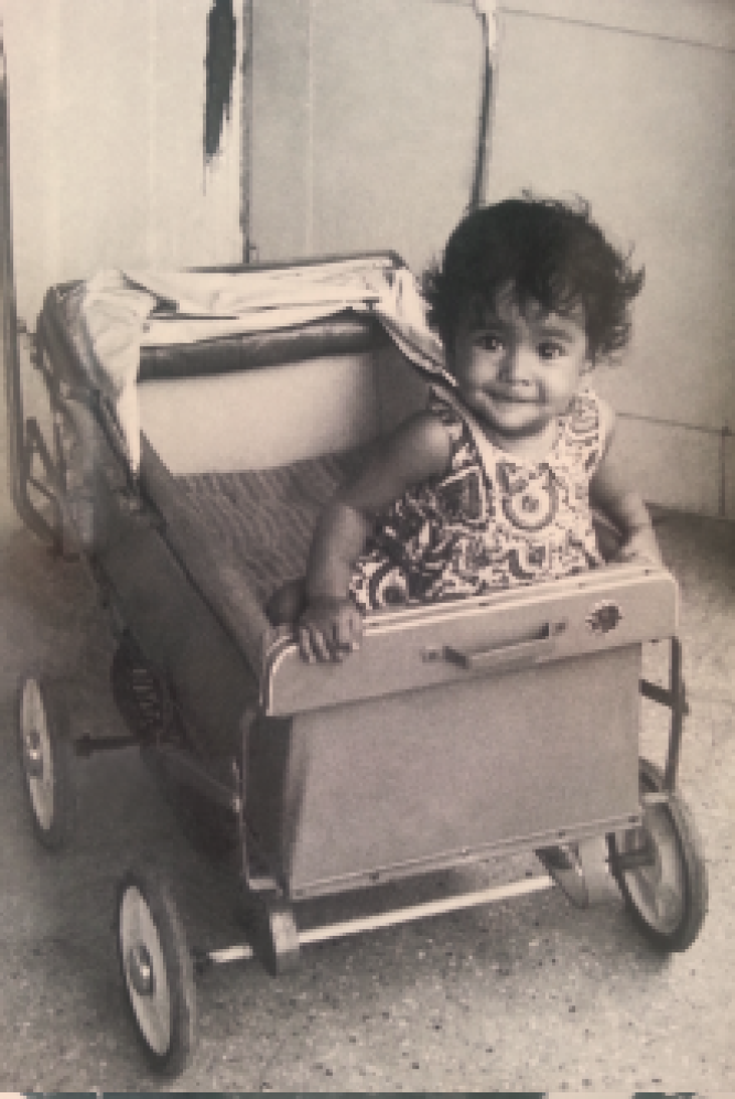 Susmita Mohanty exploring her surroundings in her<br />