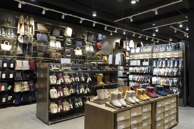 MUJI stores have a wide range of apparel and footwear